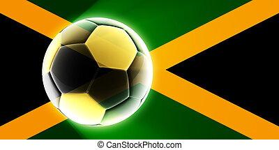 Flag of Jamaica soccer - Flag of Jamaica, national country...