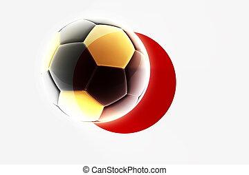 Flag of Japan soccer
