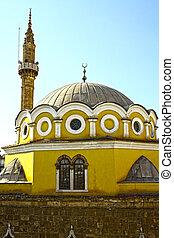 Historical Ottoman mosque. Aydin in Turkey.