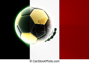 Flag of Mexico soccer