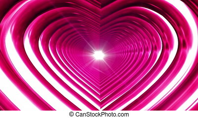 Broadcast Endless Hi-Tech Tunnel, Pink, Heart, Loopable, HD...