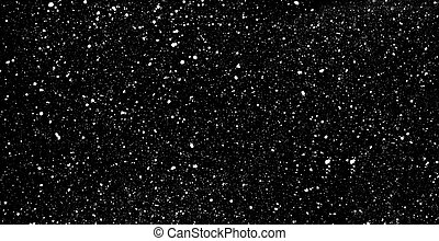 Falling snow on black background - Falling snow background...