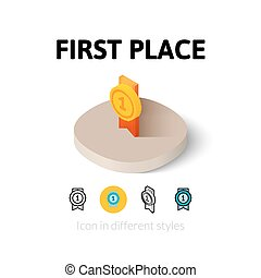 First place icon in different style - First place icon,...