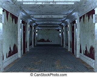 Corridor - Image of deterioration corridor and doors