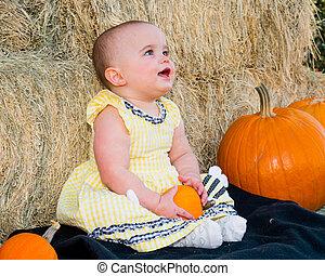 Happy Baby in Autumn