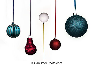 Holiday Christmas Balls Decoration Tradition Stock Photo