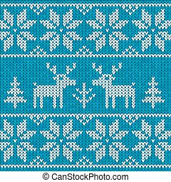 Blue sweater with deer - Blue sweater with deer seamless...