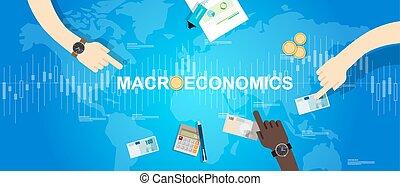 macroeconomic macro economy concept business market...