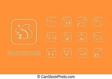 Set of mammals simple icons - It is a set of mammals simple...
