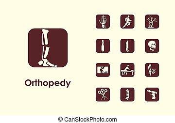Set of orthopedics simple icons - It is a set of orthopedics...
