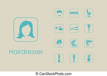 Set of barber shop simple icons - It is a set of barber shop...