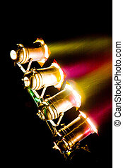 Stage lights - A set of yellow and red stage lights