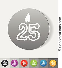 realistic design element candle twenty five - candle twenty...