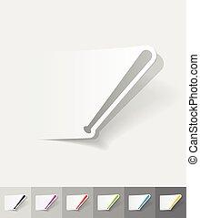 realistic design element baseball bat - baseball bat paper...