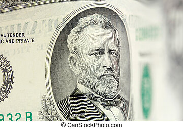 50 dollar bill - Ulysses Grant american president on 50...