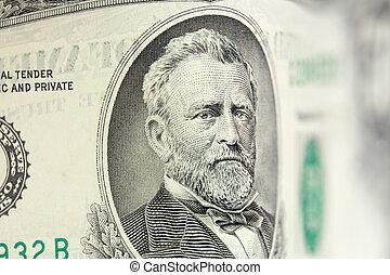 50 dollar bill - Ulysses Grant american president on 50...