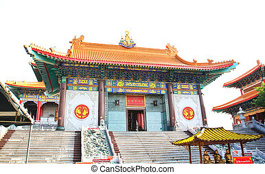 Traditional Chinese style temple at Wat Leng-Noei-Yi in...