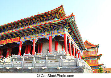 Traditional Chinese style temple at Wat Leng-Noei-Yi -...