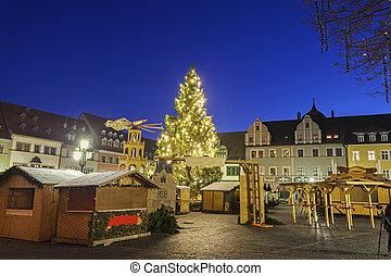 Christmas market on Marktplatz - Christmas market on...