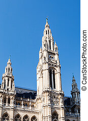 tower of Rathaus (Town Hall) in Vienna