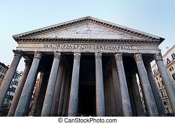 Pantheon, Rome - Facade of the pantheon in Rome