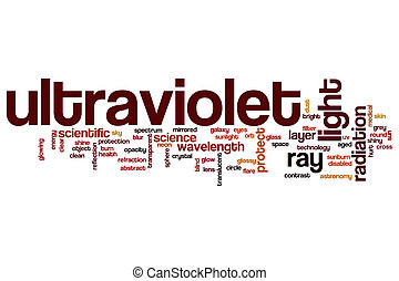 Ultraviolet word cloud concept - Ultraviolet word cloud