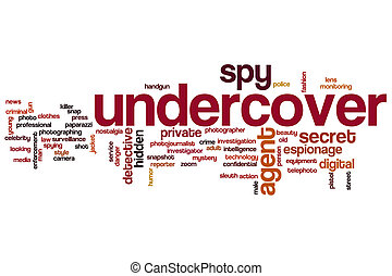 Undercover word cloud concept - Undercover word cloud