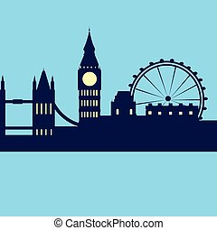 London Abstract Skyline City Skyscraper Silhouette