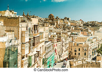 Streetview of Valletta - Streetview of the capital of Malta,...