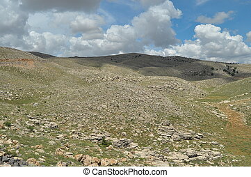 Nemrut Dagi. Mountains on the backg