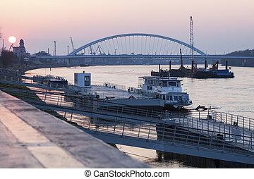 Apollo Bridge at sunrise