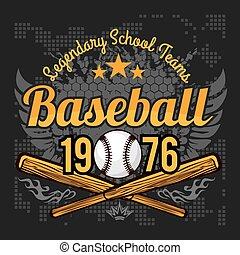 Vintage baseball label and badge - vector stock. - Vintage...