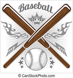 Vintage baseball label and badge - vector stock.