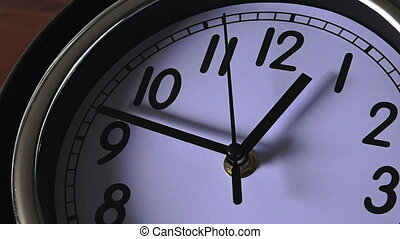 Clock ticking forwards - Time concept clock ticking...