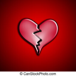 Heart Break - A broken heart representing heartbreak...