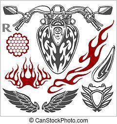Motorcycle Elements Set - Motorcycle Elements - set for logo...