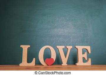 de madera, amor, escrito, Bloques, mensaje