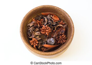 Potpourri - Isolated bowl of potpourri