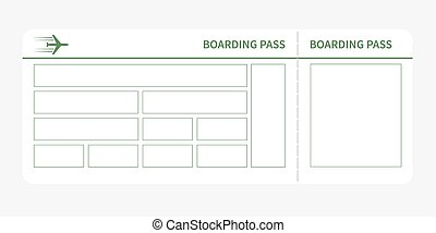 green boarding pass - Airplane ticket blank space green...