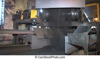 Coal poured into the conveyor - Coke and Chemicals plant...