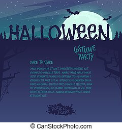 Invitation to a Halloween party..