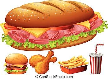 Different kind of food illustration