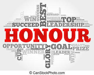Honour word cloud concept