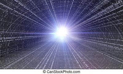 futuristic tunnel flare