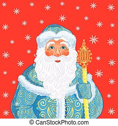 Russian Christmas and New Year Father Frost - Russian...