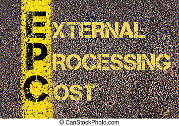 Business Acronym EPC as EXTERNAL PROCESSING COST - Concept...