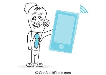 Human & Mobile Phone