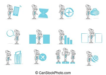 Human Trade & Business Icon Set - Trade & Business Icon Set
