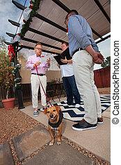 Dog in Gay Wedding