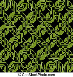 Green rectangles texture seamless pattern background